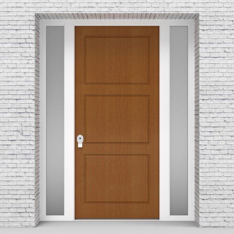 4.single Door With Two Side Panels Edwardian Oak