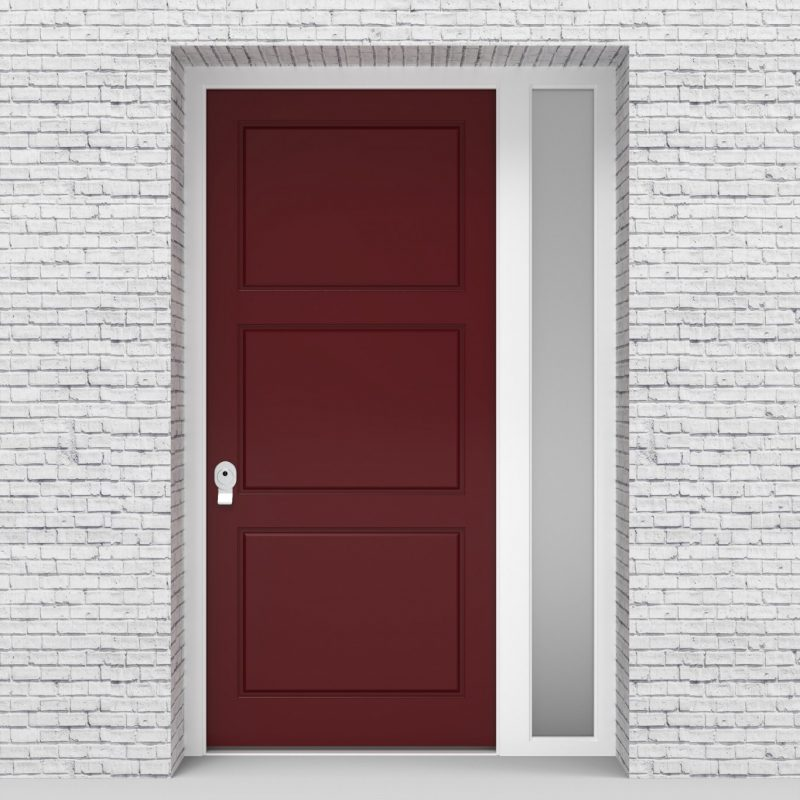 8.single Door With Right Side Panel Edwardian Ruby Red (ral3003)